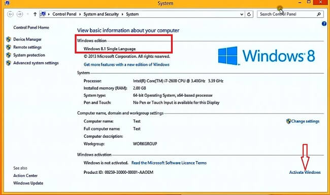serial number install windows 8.1 pro