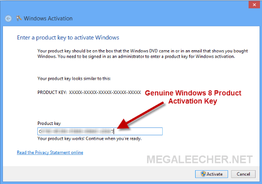 windows 8 genuine product key free download